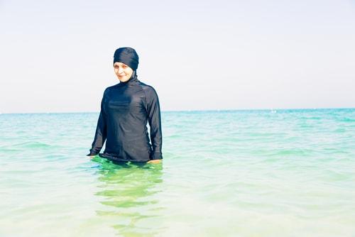Burkini - Muslimische Badeanzug in schwarz