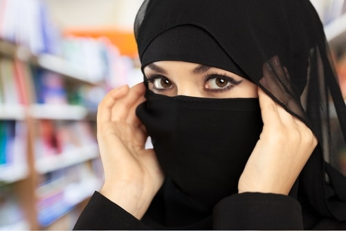 Eleganter Niqab in schwarz